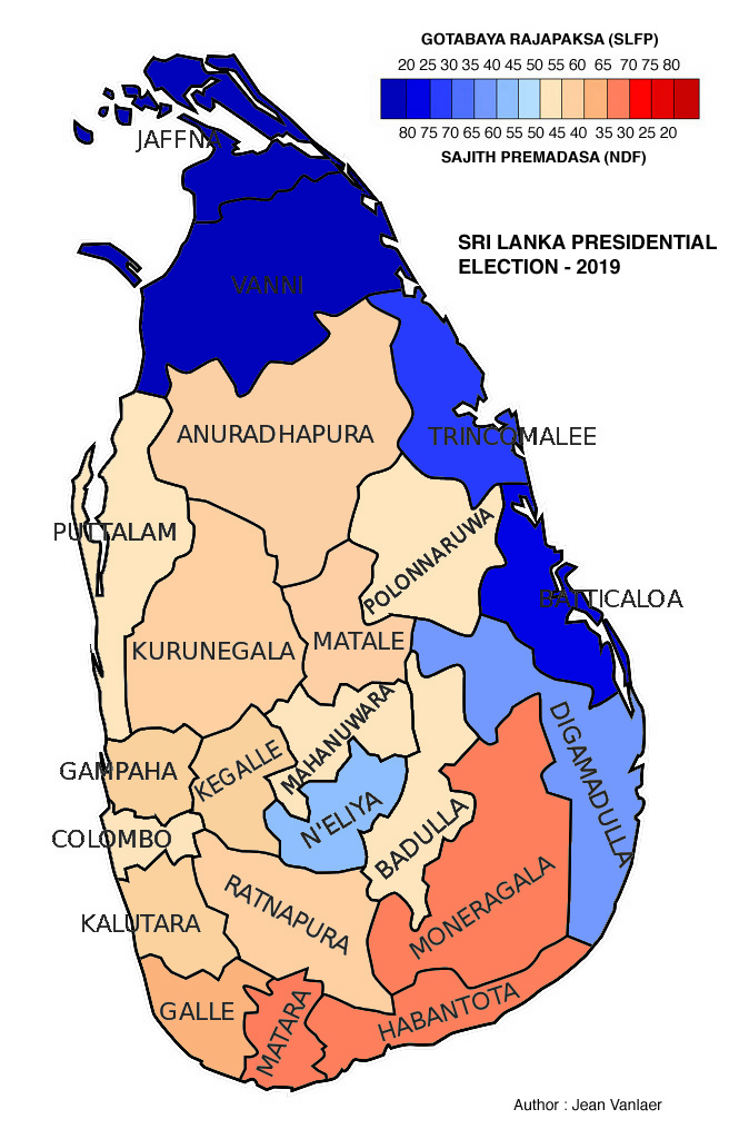 SRI LANKA (carte)