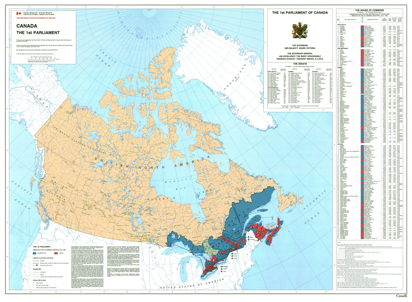 Electoral Geography 2.0 Canada. Legislative Election 1867
