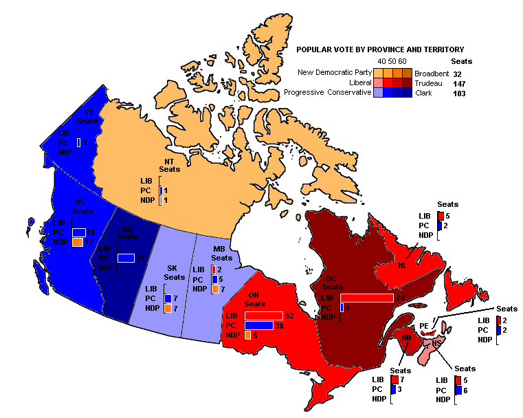 Canada. Legislative Election 1980 | Electoral Geography 2.0