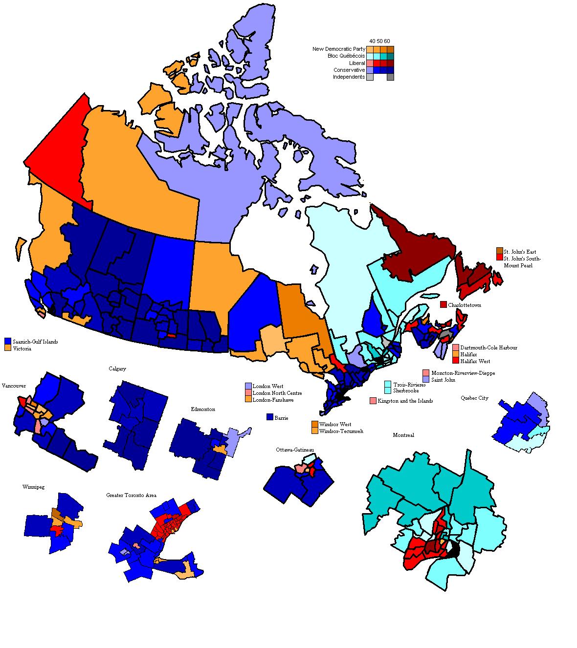 canada legislative election 2008 electoral geography 2 0