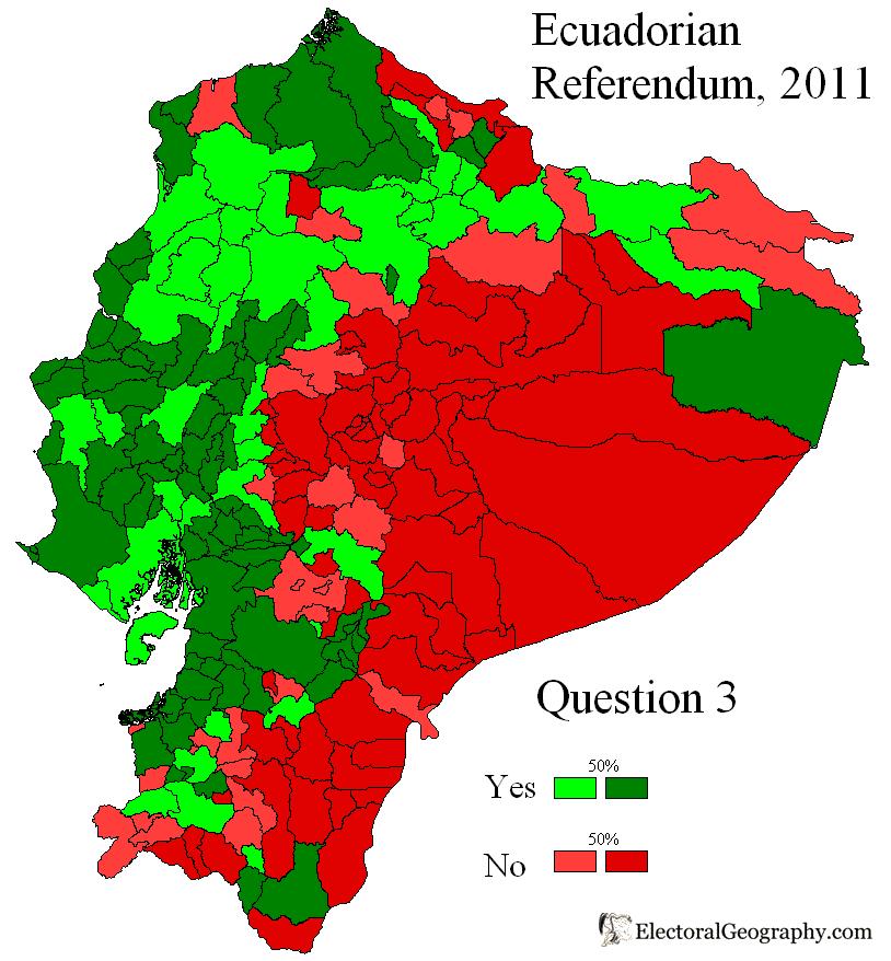 Ecuador. Referendum 2011   Electoral Geography 2.0