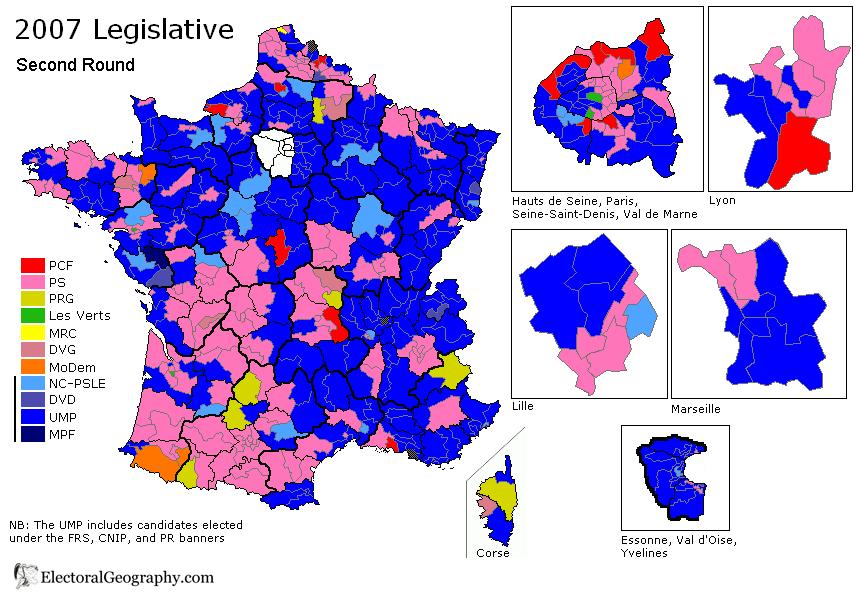 France Legislative Election Electoral Geography - Sweden election map