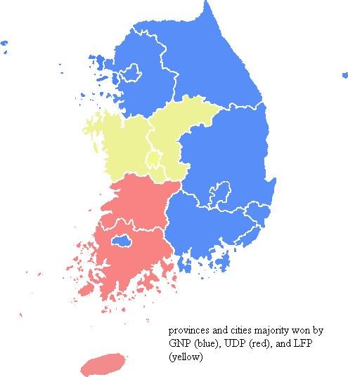 South Korea Legislative Election 2008 Electoral Geography 2 0