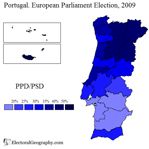 Portugal European Parliament Election Electoral Geography - Portugal election map