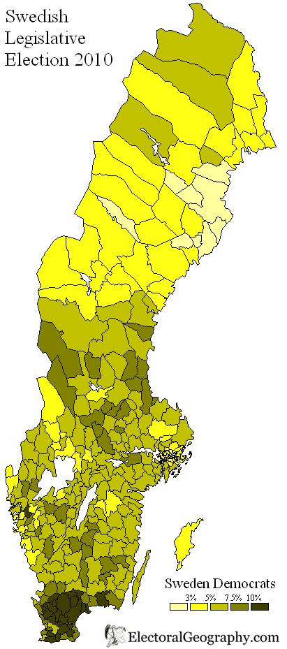 Sweden Legislative Election Electoral Geography - Sweden election map