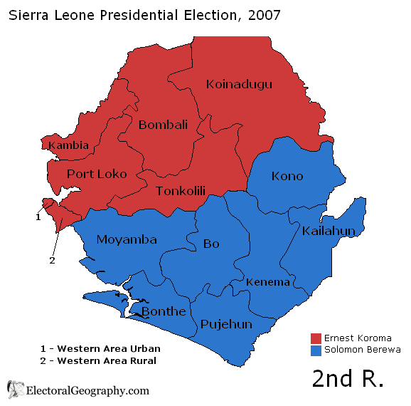 sierra leone presidential election 2007 second round